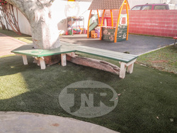 Synthetic turf around playground at los angeles school