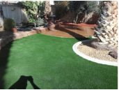 Lancaster CA Artificial turf and stamped concrete