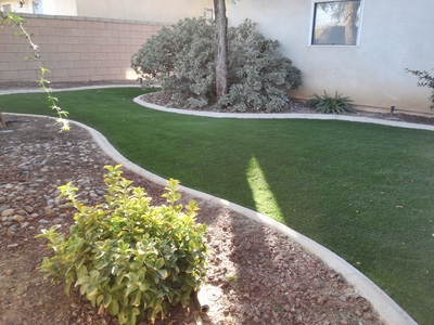 Artificial Grass Backyard in Rosamond