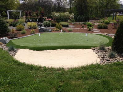 Home Putting  green with sand trap