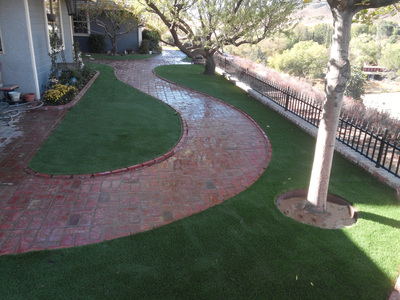 Landscaping with artificial grass