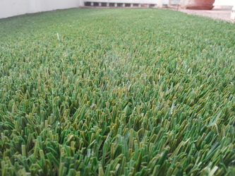 Artificial grass picture up close