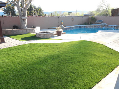 Artificial turf is great around swimming pools