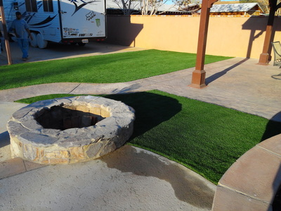 Artificial grass and artificial grass in Lancaster outdoor living space