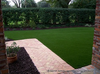 Elegant artificial grass installation